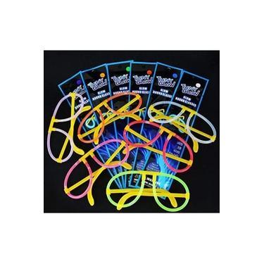 Imagem de Kit com 10 Oculos com iluminação neon festa fantasia