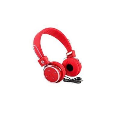 Headfone Bluetooth  Sem Fio Micro Sd Fm P2  Kp-367 Vermelho
