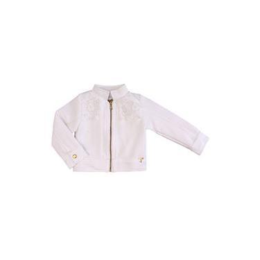 Jaqueta 1+1 Com Renda Branco
