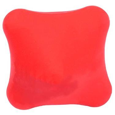 ABOOFAN Bola de massagem de silicone para relaxamento muscular profundo Ioga Bola de ginástica Bola de massagem de mãos Material de ginástica para estudantes trabalhador (vermelho)