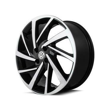 Jogo de Rodas New Polo Aro 14 x 6,0 4x100 ET30 Volkswagen R93 Preto Diamantado