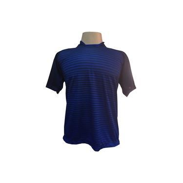 Imagem de Jogo de Camisa com 18 unidades modelo City Marinho/Royal + 1 Goleiro +