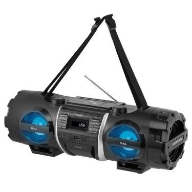 Som Portátil Philco PB500BT, Bluetooth, USB, Auxiliar, Rádio FM, Display Digital, Bivolt