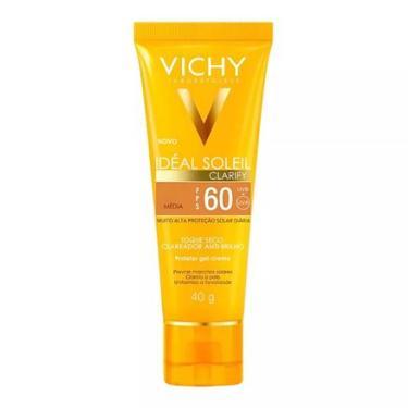 Protetor Solar Idéal Soleil Clarify Média FPS 60 Gel Creme com Cor 40g VICHY