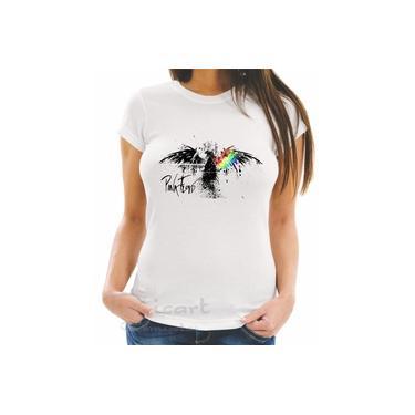 Camiseta Camisa Baby Look Pink Floyd Banda de Rock 04