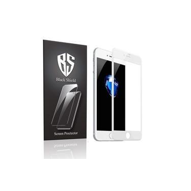 Kit 2 Pelicula de Vidro 3D 9H Comum Apple Iphone 7 8 4.7 Branco Black Shield