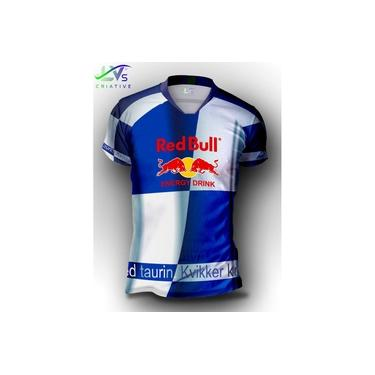 Camisa Camiseta Red Bull Estampa Total Personalizada