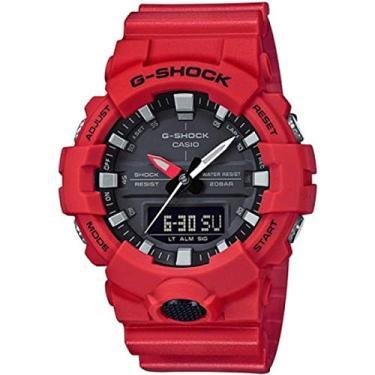 394b8406234 Relógio Masculino Casio G-Shock GA8004ADR - Vermelho