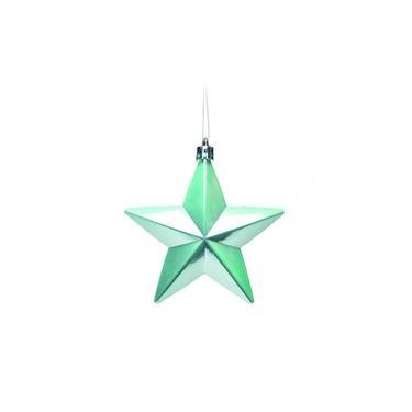Estrelas Glitter Para Pendurar Árvore de Natal Azul 3 Peças