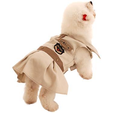 Vestido para Cachorros Militar M