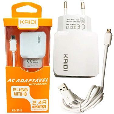 Carregador Turbo Celular Iphone Adaptável com 2 USB original