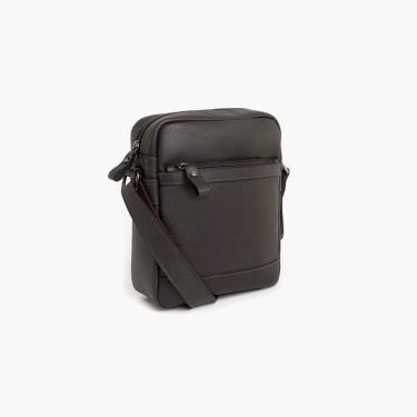 Bolsa Bennemann Shoulder Bag Em Couro Marrom  masculino