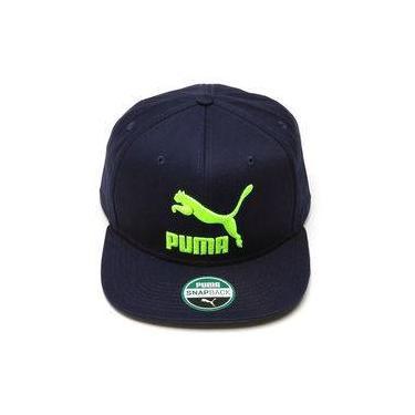 Boné Puma Ls Colourblock Aba Reta Masculino 5488a290957