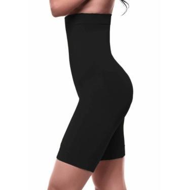 cinta bermuda modeladora slim com abertura entre as pernas feminina Loba Lupo ref. 47120