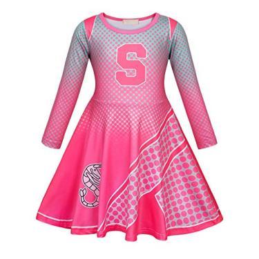 Metcuento Vestido de Cheerleader de manga comprida Vestido de alegria para menina Tamanho padrão, multicolor, pequeno, médio primavera e outono