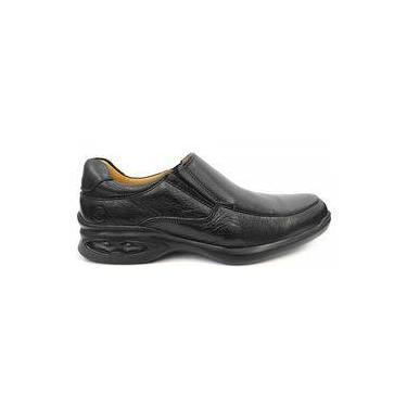 Sapato Couro C/Amortecedor 6642 Anatomic Gel (11) - Preto