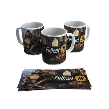 Caneca Fallout 76 Jogo RPG Vídeo Game Geek Gamer