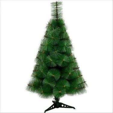 Árvore De Natal Pinheiro Luxo 0,60 Cm 35 Galhos - Decoração