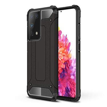 """Grandcaser Capa para Galaxy S21 Ultra Heavy Duty Hybrid Case Dupla Camada À Prova Choque Anti-arranhões Resistente Capa Proteção para Samsung Galaxy S21 Ultra 6.8"""" -Preto"""