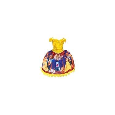Imagem de Fantasia Infantil Tema A Bela E A Fera Bela Luxo Da Vestido