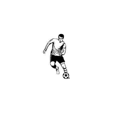 88e4da0f3 Adesivo de Parede Futebol Soccer Player Stixx Adesivos Criativos Preto  (69x116cm)