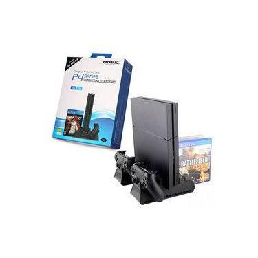 Multifuncional Base Vertical Cooler Carregador Stand Para Ps4 Séries Ps4/slim/pro Dobe Tp4-882