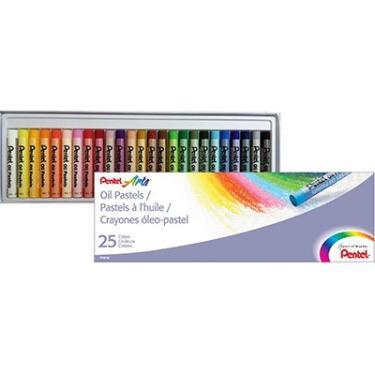 Giz de cera (pastel a óleo) c/25 cores PHN25 Pentel CX 1 UN