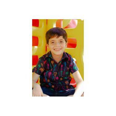 Camisa infantil menino - manga curta- palmeira funk