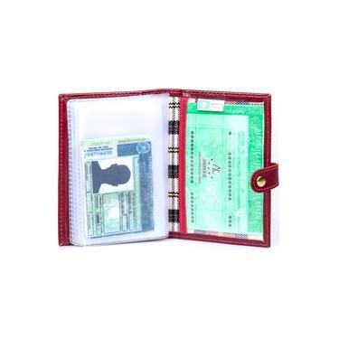 Carteira Porta Documento Feminino Carro Cartão Couro Legitimo Artlux RF 443