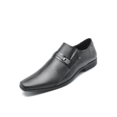 Sapato Social Couro Ferracini Liso  Preto Ferracini 4059-281G masculino