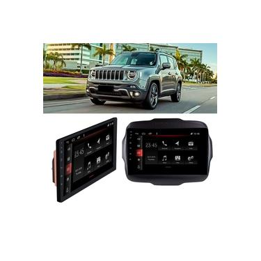 Central Multimídia 9'' Jeep Renegade PCD 2018 a 2020 Slim Android TV BT Wi-Fi Winca