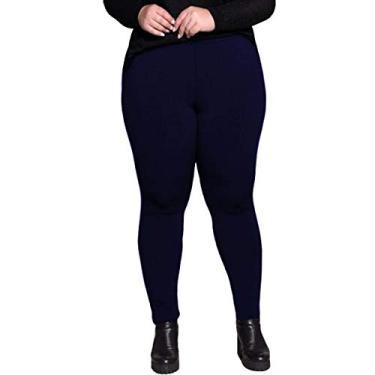 Calça legging plus size peluciada térmica suplex Dicors