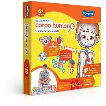 Imagem de Toyster Brinquedos Explorando o Corpo Humano, Grandão 120 Peças