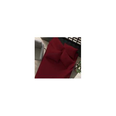 Imagem de Lençol com elástico avulso Solteiro 1 peça de Malha 100% algodão Portallar Vermelho Rubi
