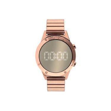 4e3944727f5 Relógio Euro Digital Rosê Espelhado Eujhsbac 4d
