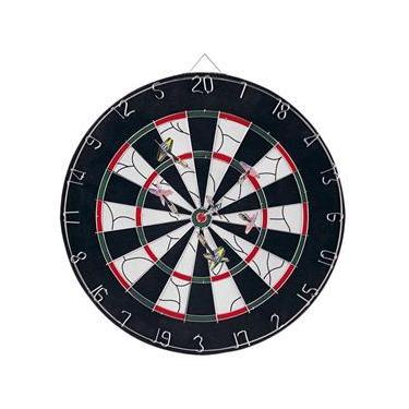 Jogo de Dardo Dart Board Preto Em Madeira Inox 410050 NTK