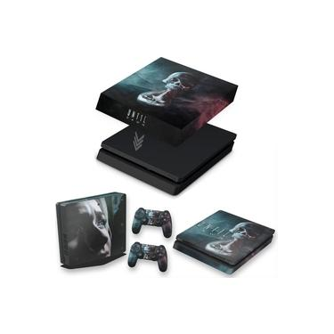 Capa Anti Poeira e Skin para PS4 Slim - Until Dawn