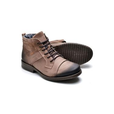 Bota Masculina Boots Suflair Fóssil Em Couro Cor Tabaco 894