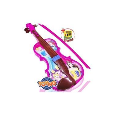 Imagem de Brinquedo Musical Violino Princesas Infantil Disney Toyng