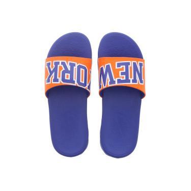 ed37106eb1 Chinelo Nike NBA Benassi Solarsoft - Slide - Masculino - AZUL LARANJA Nike