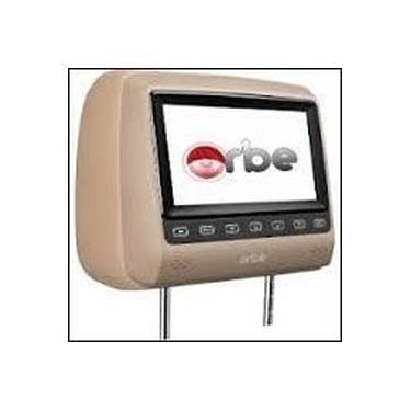 """Encosto de Cabeça Orbe com Tela LCD de 7"""" Caramelo"""