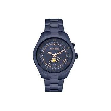 6e60a325a48 Relógio Technos Calendário Lunar Feminino Azul - 6p80ae 4a