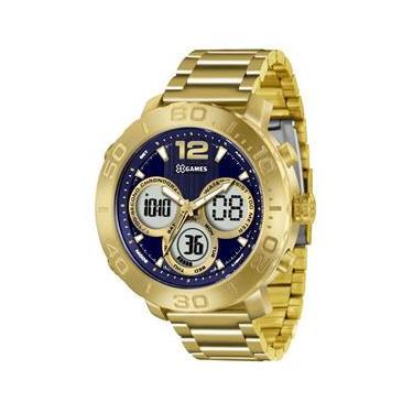 12c859a4c55 Relógio Masculino X-Games Anadigi Xmgsa002 D2kx Dourado