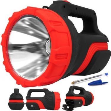 Lanterna Recarregavel Holofote Albatroz 7077 5w 1 Led Grande - Albatro