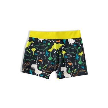 Sunga Shorts Praia Infantil Dinossauro Mescla Amarelo Tip Top