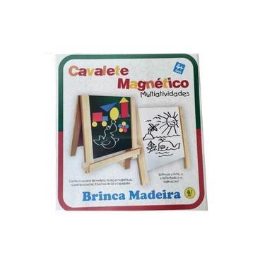 Imagem de Brinquedo Educativo Cavalete Magnético Multiatividades Formas Geométricas Eva Giz e Apagador Menino Menina 4 Anos