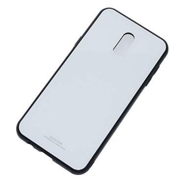 Kepuch Quartz Case Capas TPU &Voltar (Vidro Temperado) para Samsung Galaxy J7+ J7 Plus/C8 - Branco