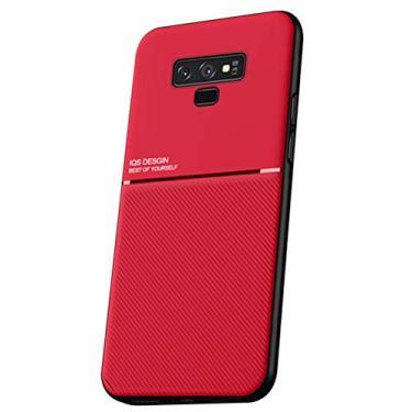 SHUNDA Capa para Samsung Galaxy Note 9, capa ultrafina de silicone macio TPU com absorção de choque para Samsung Galaxy Note 9 (6,5 polegadas) vermelha