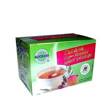 Chá Verde com Rosélis (Hibiscus) Sabor Pêssego 15 Saquinhos - Panizza