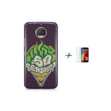 Kit Capa TPU Moto G5S Plus Coringa Joker Why so Serious? + Pel Vidro (BD30)